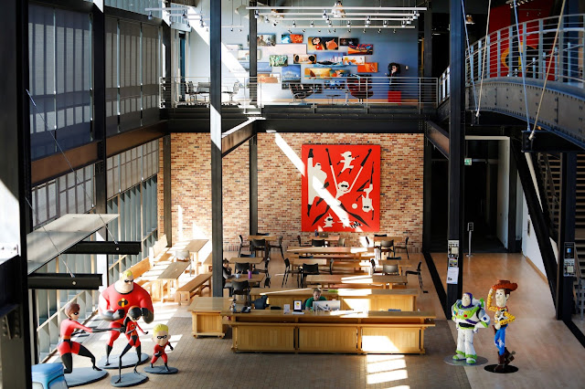 Pixar Studios Atrium decorated for Incredibles 2