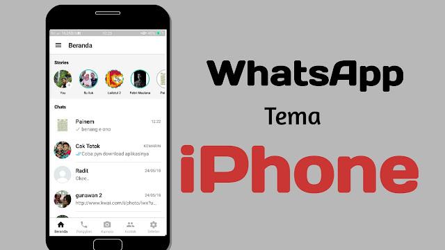 merubah whatsapp android jadi whatsapp iphone