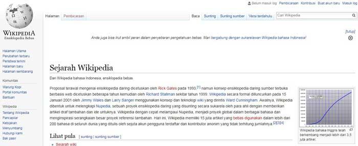 sejarah wikipedia