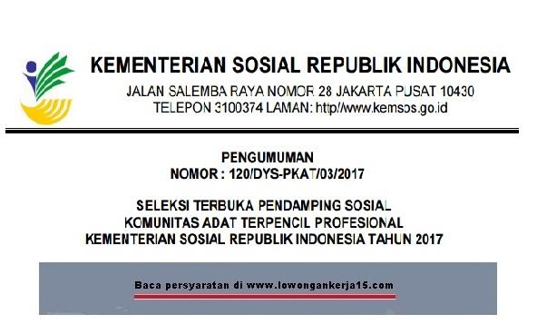lowongan kerja kementerian sosial