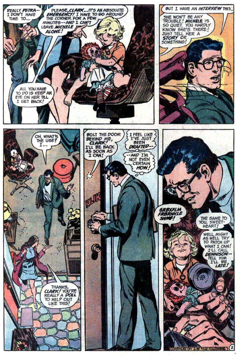 Superman v1 #254 dc comic book page art by Neal Adams