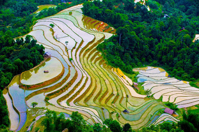 water poured season in Ha Giang
