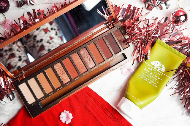 Gift guide for her - Urban Decay Heated palette and Origins Drink Up Intensive mask
