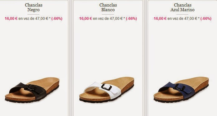 Chanclas para mujer por 16 euros