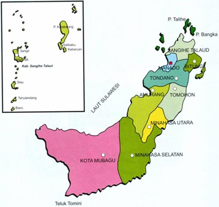 daftar kabupaten dan kota di provinsi sulawesi utara tentang provinsi