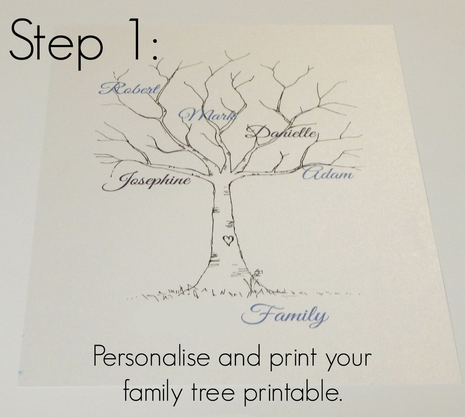 Family tree template family tree thumbprint template for How to draw a family tree template
