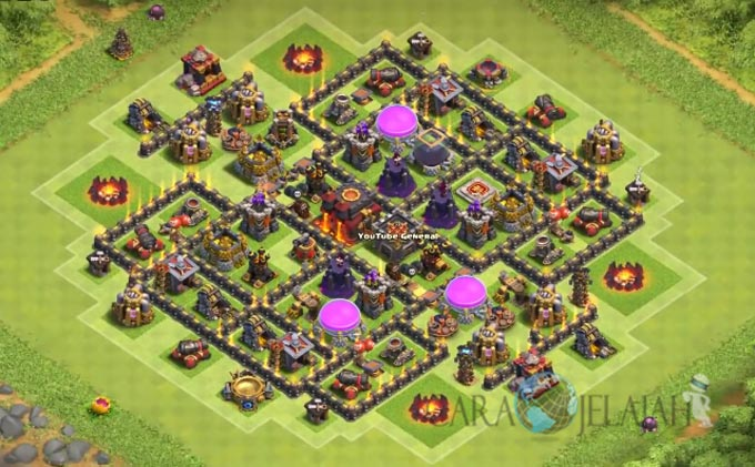 Base Trophy TH 8 di Clash Of Clans Terbaru Tipe 10