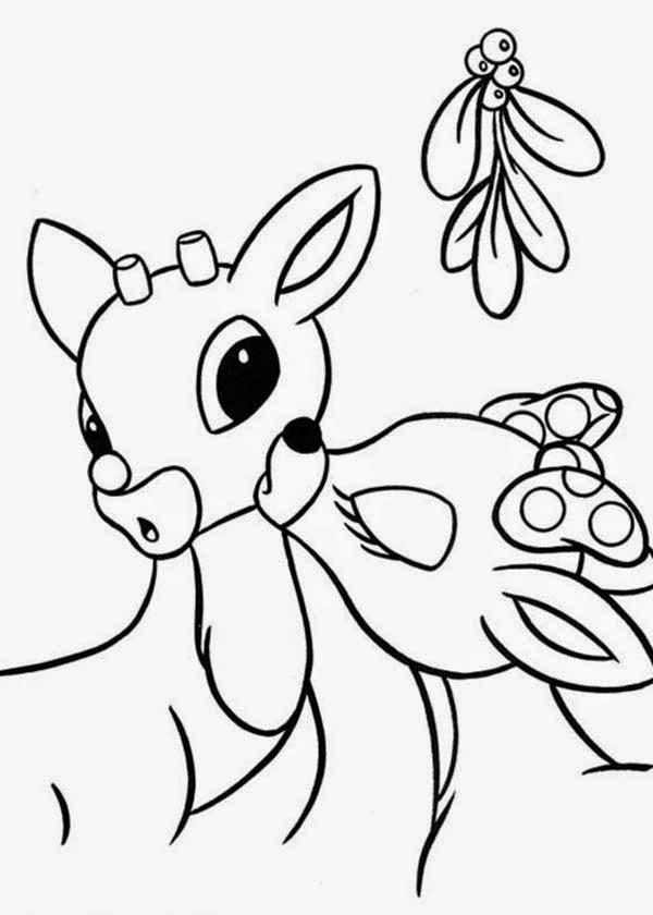 reindeer coloring pages free | The Holiday Site: Santa's Reindeer Coloring Pages