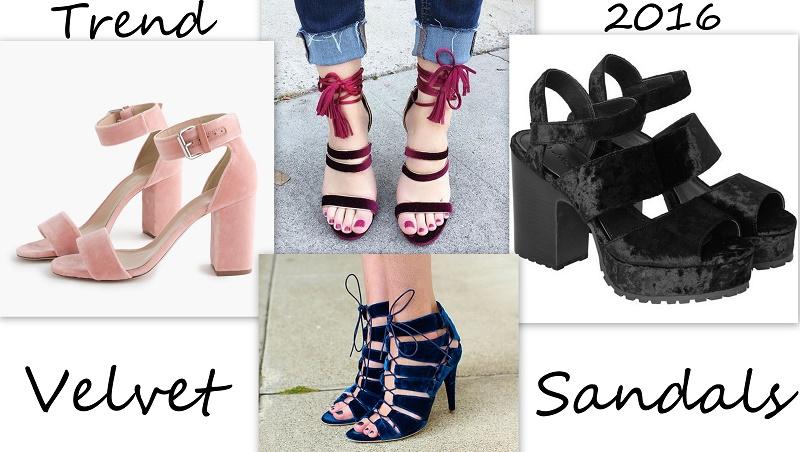 velvet sandals trend 2016
