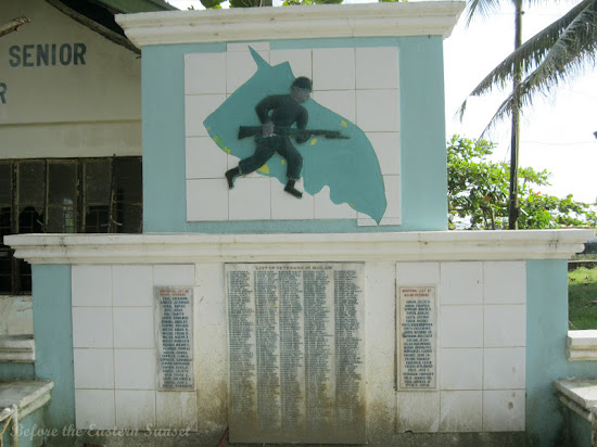 World War 2 Monument at Sabang Beach Resort in Bulan, Bicolandia
