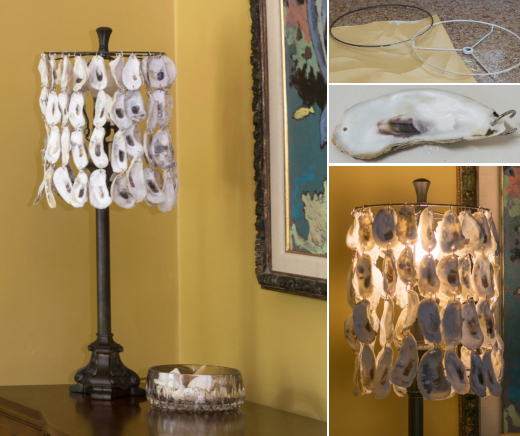 DIY Oyster Shell Lamp Shade