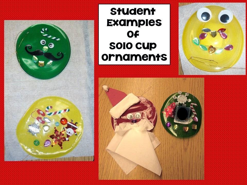 Solo cup ornaments