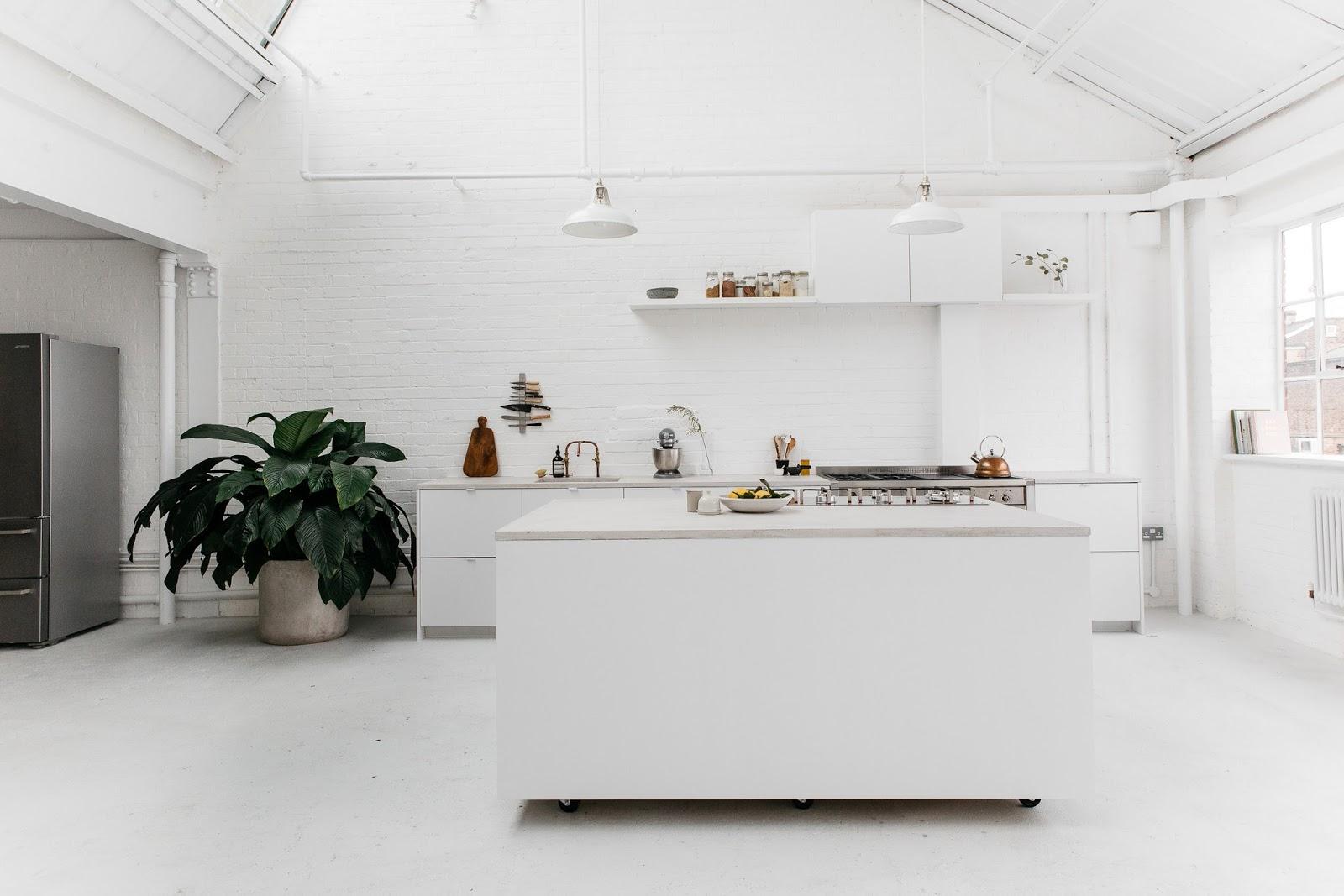 Studio 8A a Londra: cucina e studio fotografico in total white | ARC ...