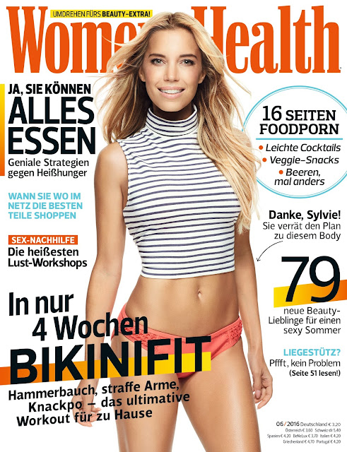 Television Personality, Model, @ Sylvie Meis - Women's Health June 2016.
