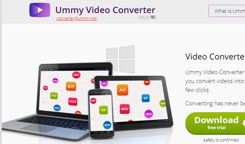 Tampilan halaman untuk mendownload Ummy Video Converter. Gambar dari Internet