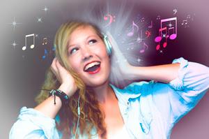 Escucha música alegre contra la tristeza