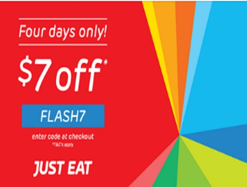 Just Eat Flash Sale $7 Off Promo Code