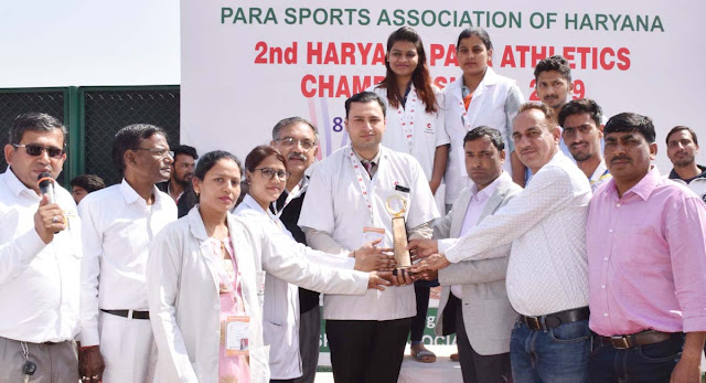 Second paragraph championship event in Faridabad sector 12 sports complex, honored by Dr. Saurabh Tyagi