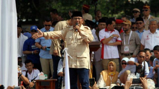 Prabowo: Hitungan Lembaga Survei, Kita Menang 63 Persen