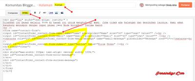 cara memasang halaman kontak keren di blogger