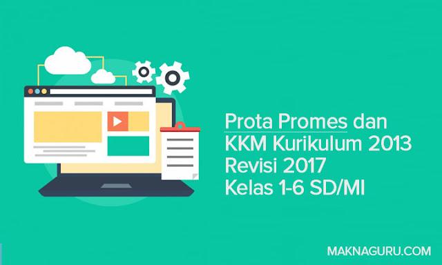 Prota Promes dan KKM Kurikulum 2013 Revisi 2017 Kelas 1-6 SD
