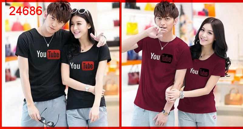 Jual Baju Couple Youtube Shirt - 24686