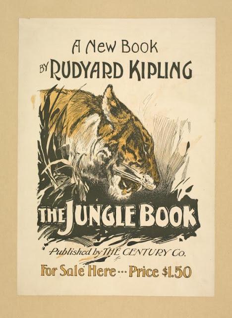 Una de las primeras portadas Portada del libro El Libro de la Selva