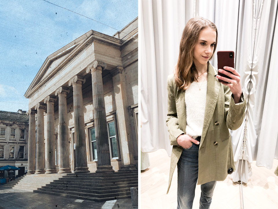 Royal Exchange Square Glasgow - H&M green blazer