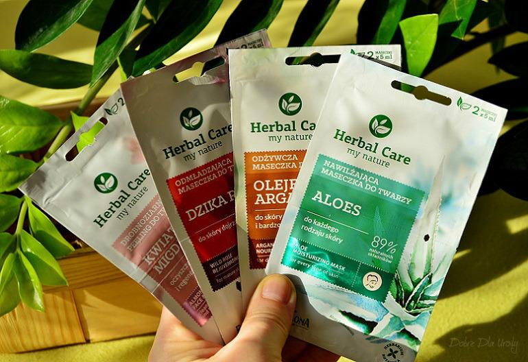 nowe maseczki i peeling do twarzy Herbal Care Laboratorium Farmona