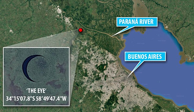 'The Eye' is a mysterious rotating island found in Argentina.