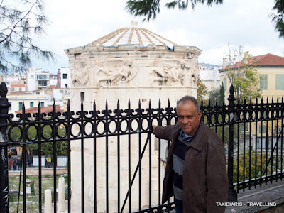 6d52df80f Gregoris Maliotis once more admires the tower of the winds in Athens. The  first weather station in antiquity! Ο Γρηγόρης Μαλιώτης για μια ακόμη φορά,  ...