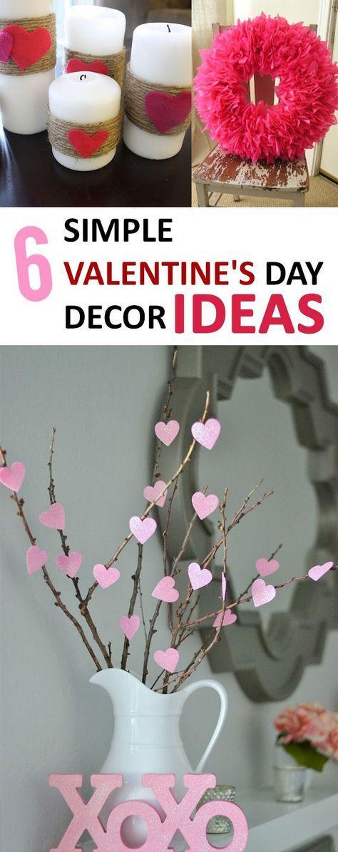 6 Simple Valentine's Day Décor Ideas