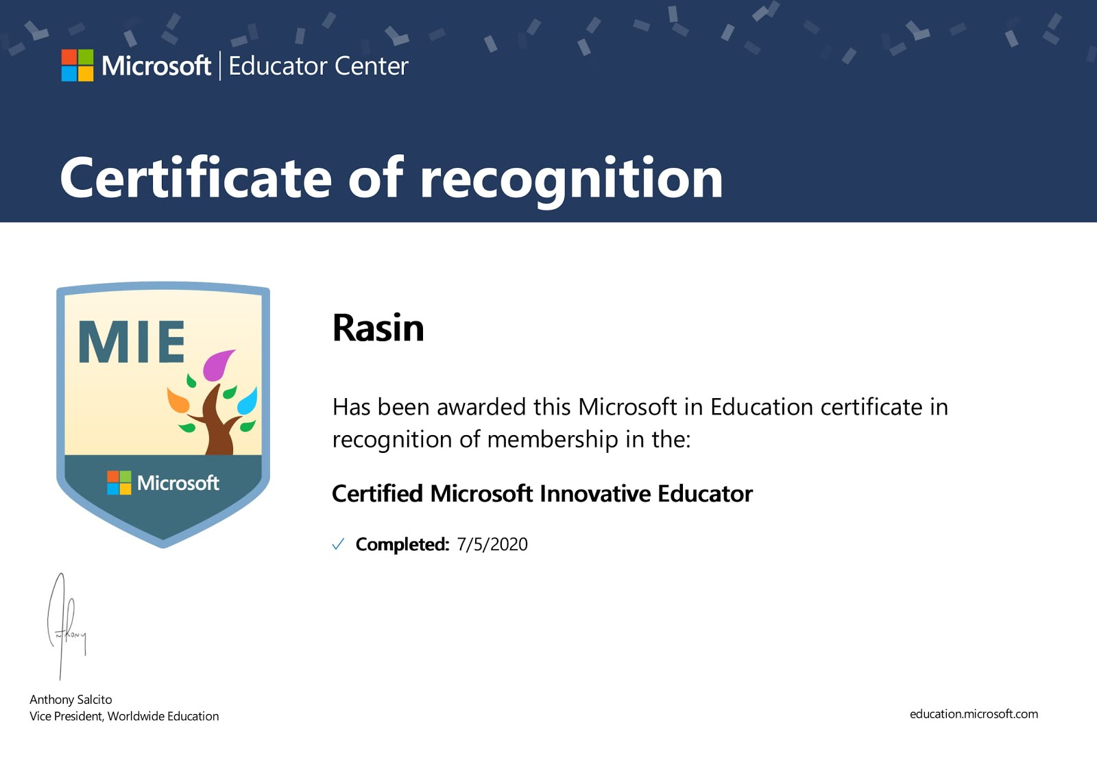 Microsoft Inovative Educator