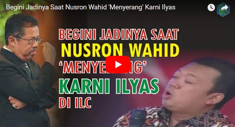 Begini Jawaban Telak Karni Ilyas Saat Nusron Wahid Menyerangnya di ILC Tv One