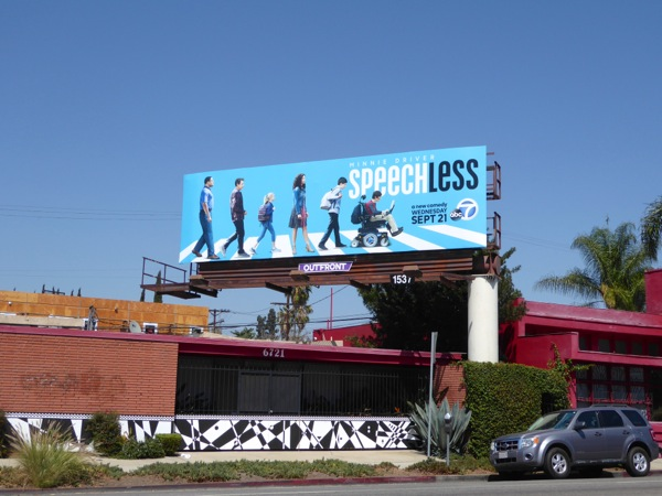 Speechless series launch billboard