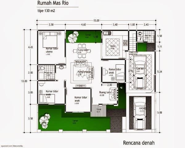 desain rumah minimalis type 54 6