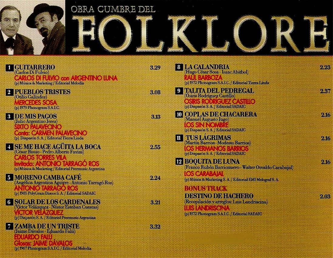 obras cumbres del folklore argentino luna carlos di fulvio