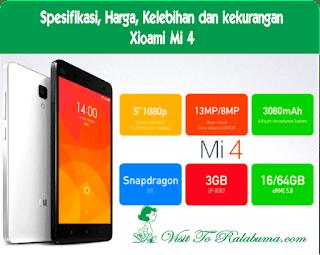 Spesifikasi, Kelebihan dan Kekurangan Xiaomi Mi 4