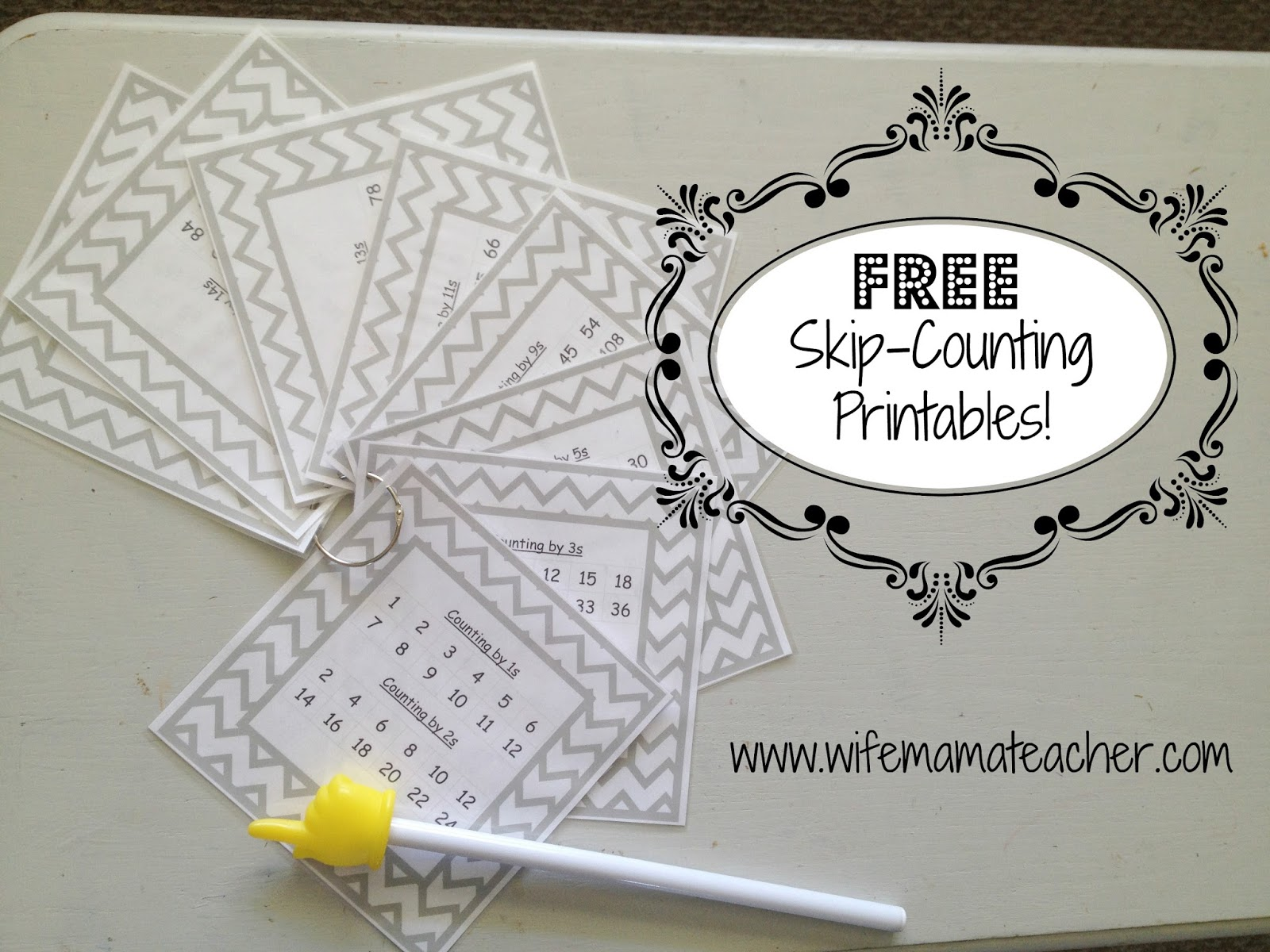 Wife Mama Teacher Free Skip Counting Printables