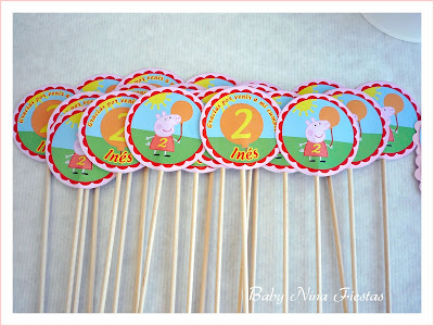 Toppers brochetas peppa pig