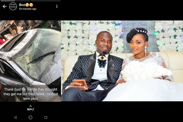 "BRIDE ESCAPE DEATH, SHARES HER STORY ""THE EFFECTIVENESS OF PRAYERS BEFORE MARRIAGE"""