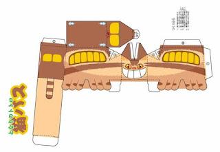 Gatobus de Totoro en papercraft para descargar gratis
