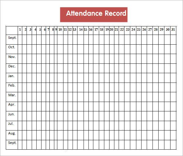 Get Printable Calendar - attendance calendar template