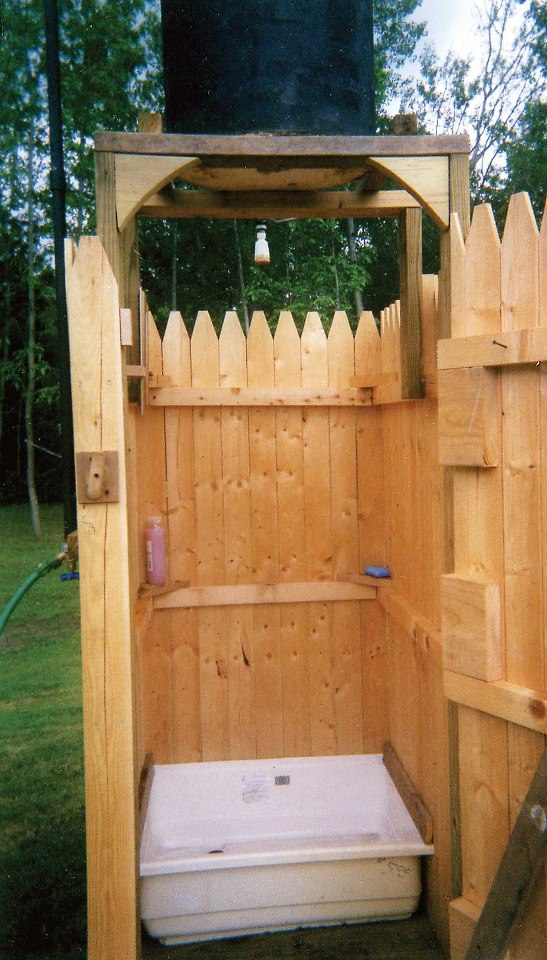 Homestead crossing inc 39 s blog diy outdoor shower - How to make an outdoor shower ...