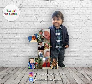 fotoğraflı 1 yaş panosu