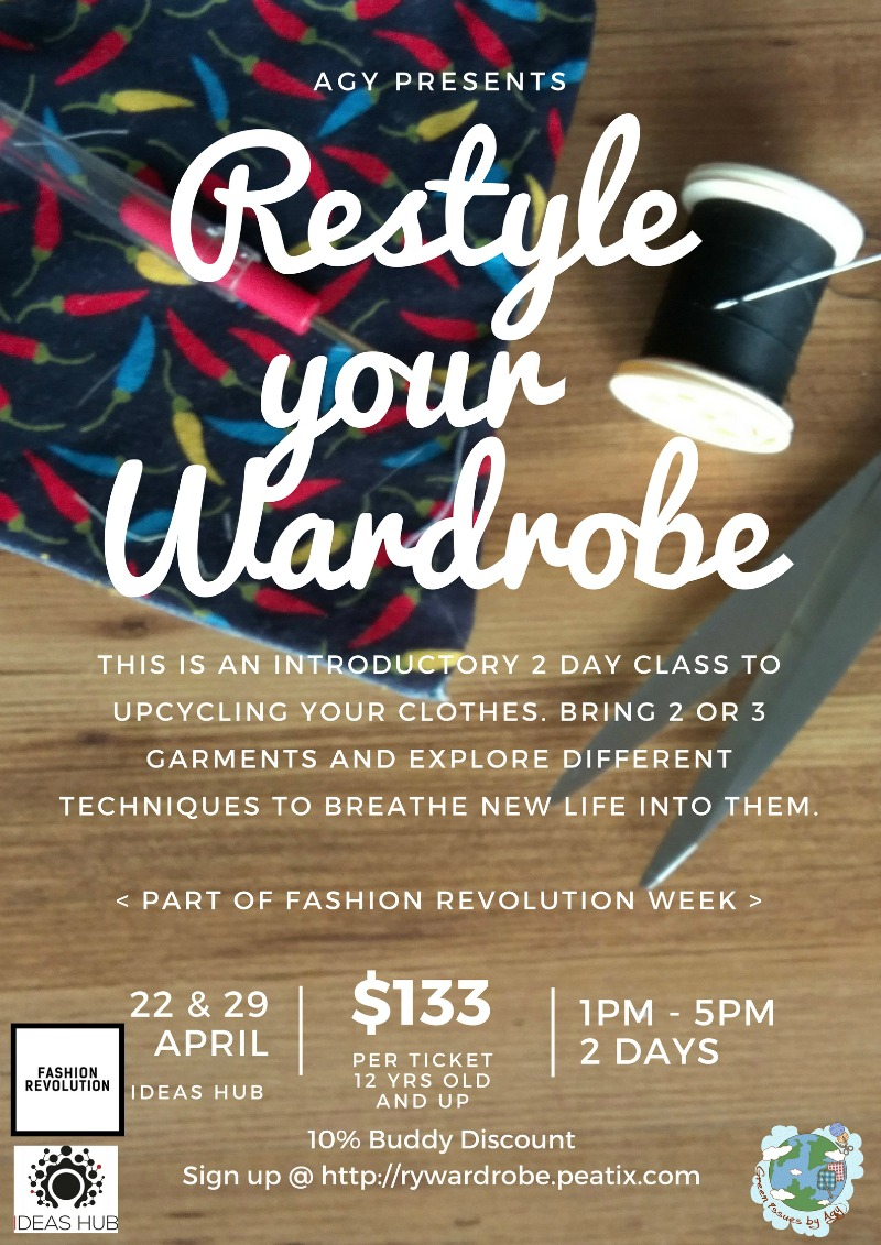 Restyle Your Wardrobe Upcycling Workshop