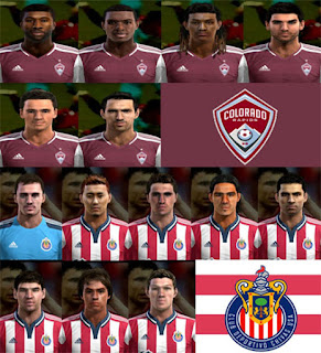 Facepack Colorado Rapids + Chivas USA Pes 2013
