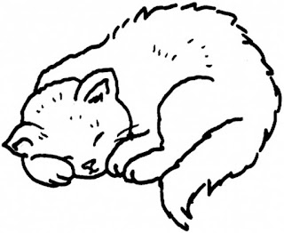A Sweet Sleep Time For A Kitty Coloring Pages Animal