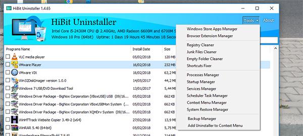 شرح كامل لبرنامج Hibit Uninstaller لحذف البرامج من جذورها