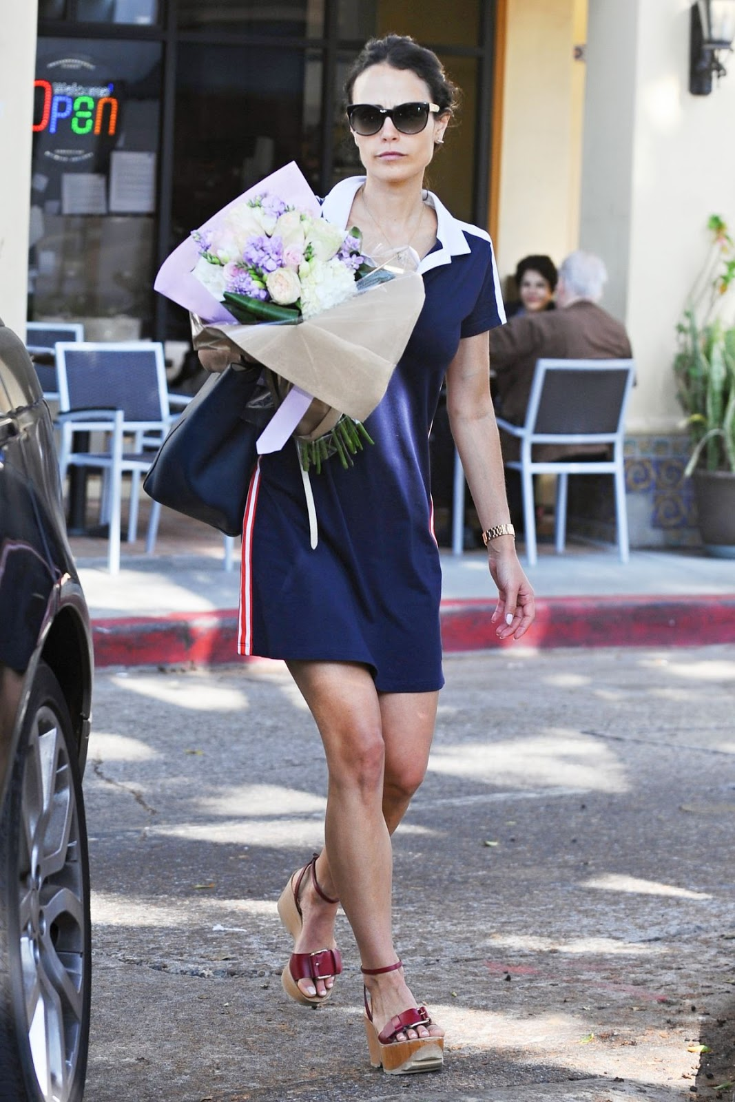 Photos of 'Fast and Furious 8' actress Jordana Brewster out Shopping for Flowers in Los Angeles